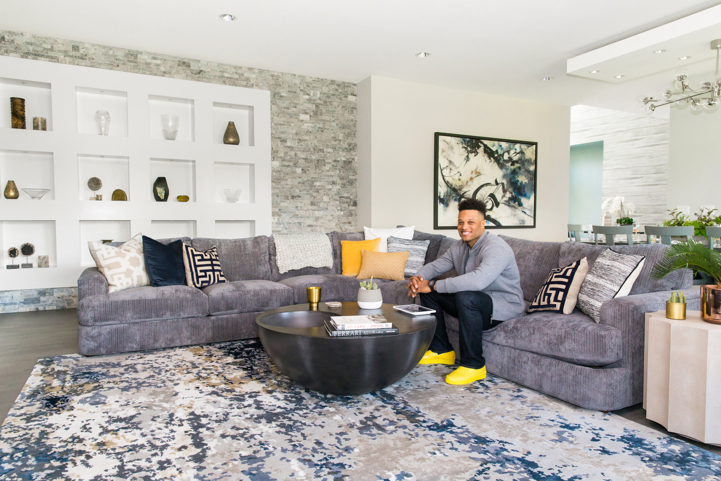 Client Robinson Cano - Project Manager, Co-Designer, and on site Stylist