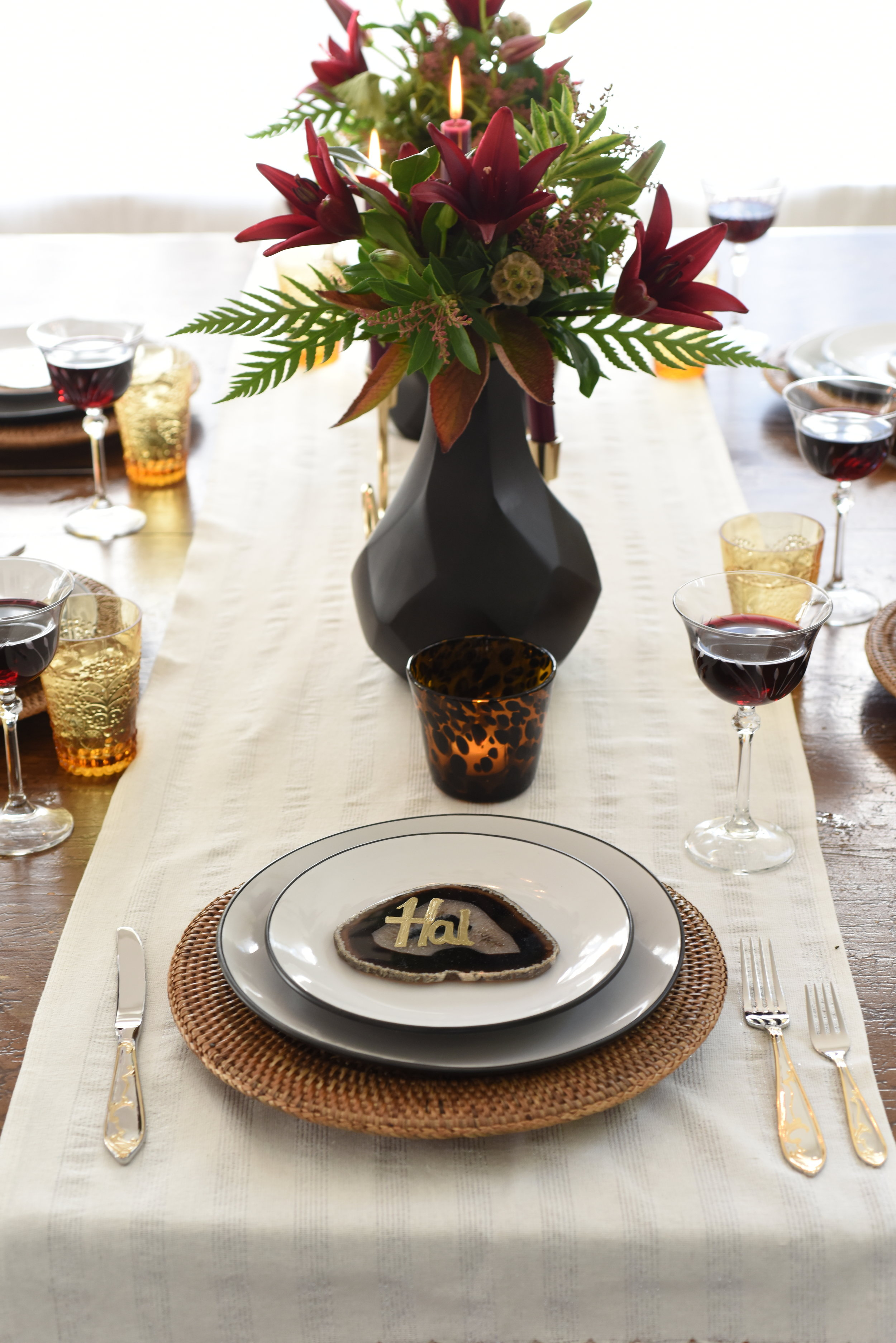 425 Magazine - Lead Designer & Stylist - How to set a Holiday tablescape two waysPrint Spread & Digital