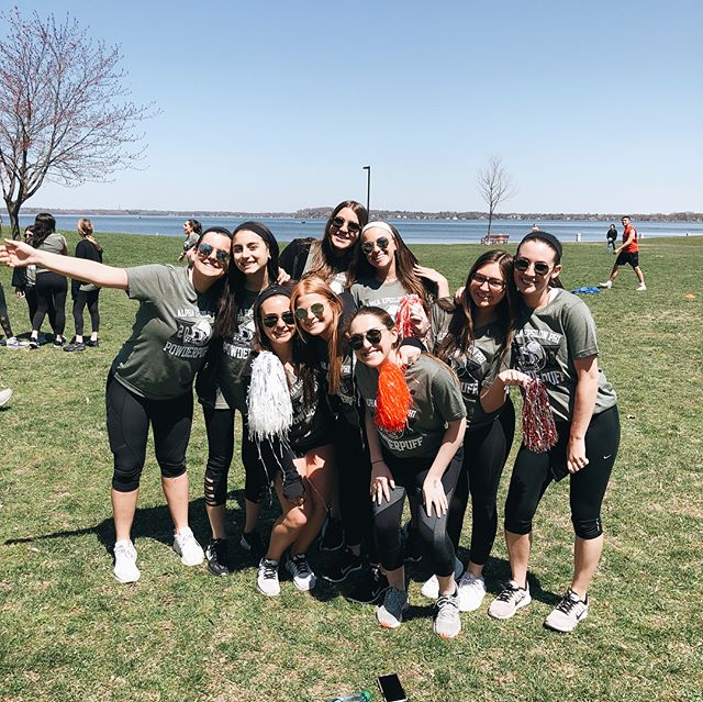 Powderpuff 2018 was a SUCCESS!! 🙌🏼🏆🏈 Thank you to everyone who came, played & supported in benefit of our philanthropy, @egpaf, & a big congrats to the players from the @badgerfootball team for taking home first place! (Who saw that one coming?) 🥇🌟 Shoutout to our philanthropy chairs @mardannenbaum & @dblairbern for KILLING IT! 👊🏼