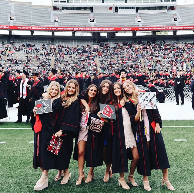 We're not crying, you're crying... jk, I think we're all crying 😭 Congratulations on graduating to the 45 seniors of PC '14! We ❤️ you and are SO incredibly proud 💕 Good luck out there in the real world, we miss you already!🦒💚👐🏼 #LML #OnWisconsin
