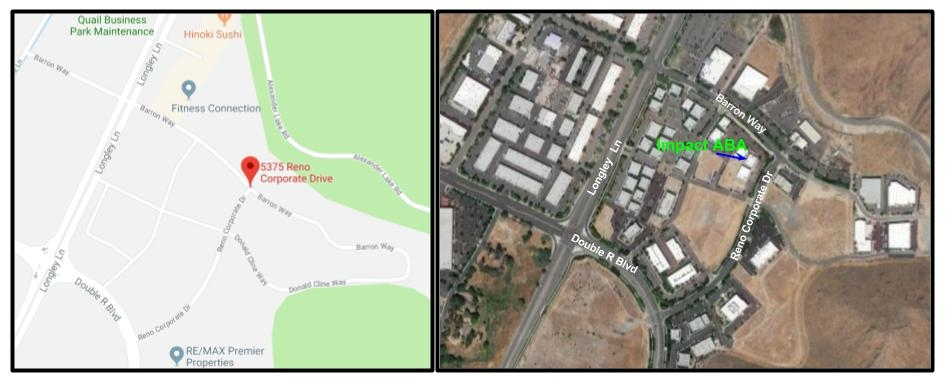 We are located on the corner of Barron Way and Reno Corporate Drive.