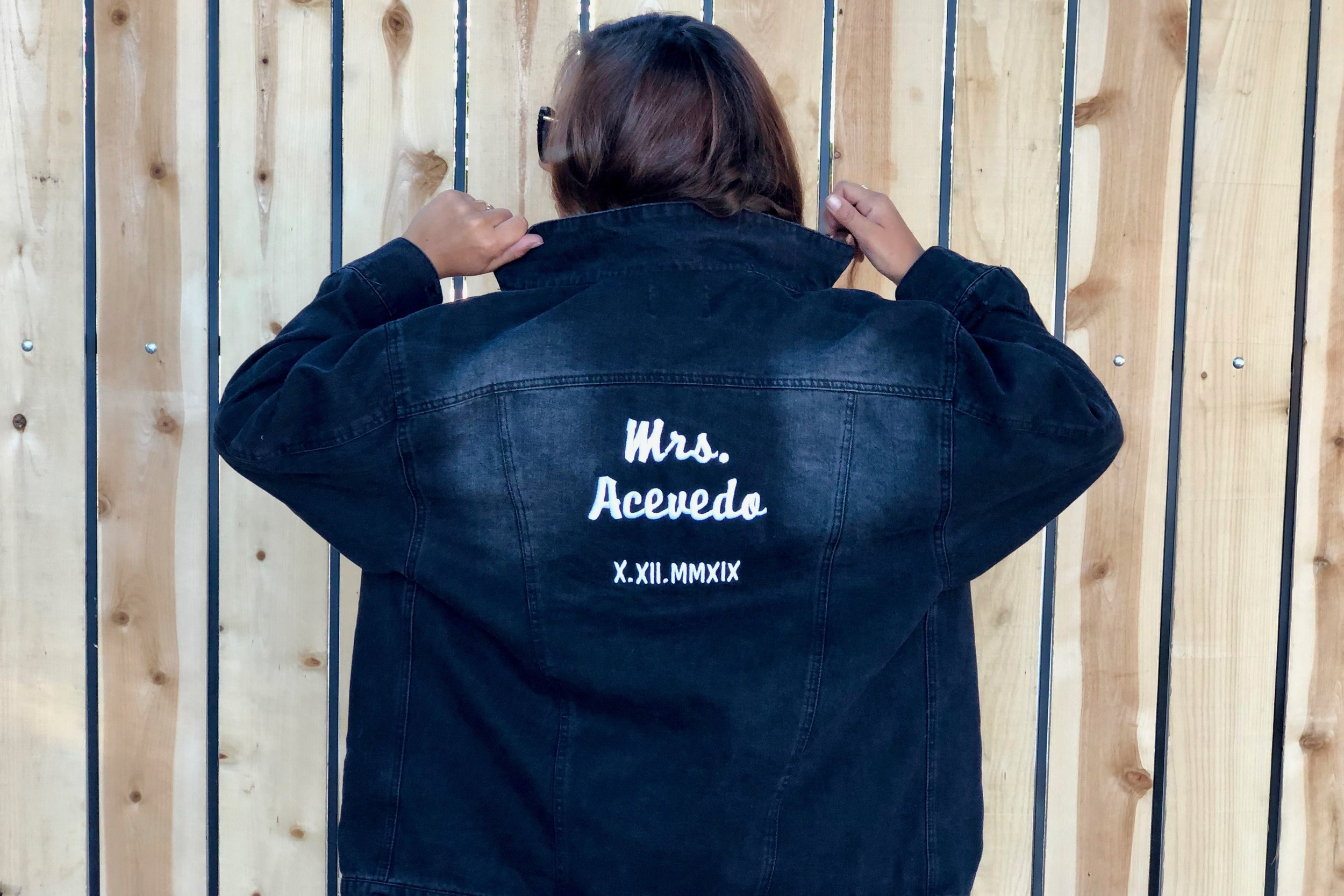 Wedding Planning Custom Denim Jacket