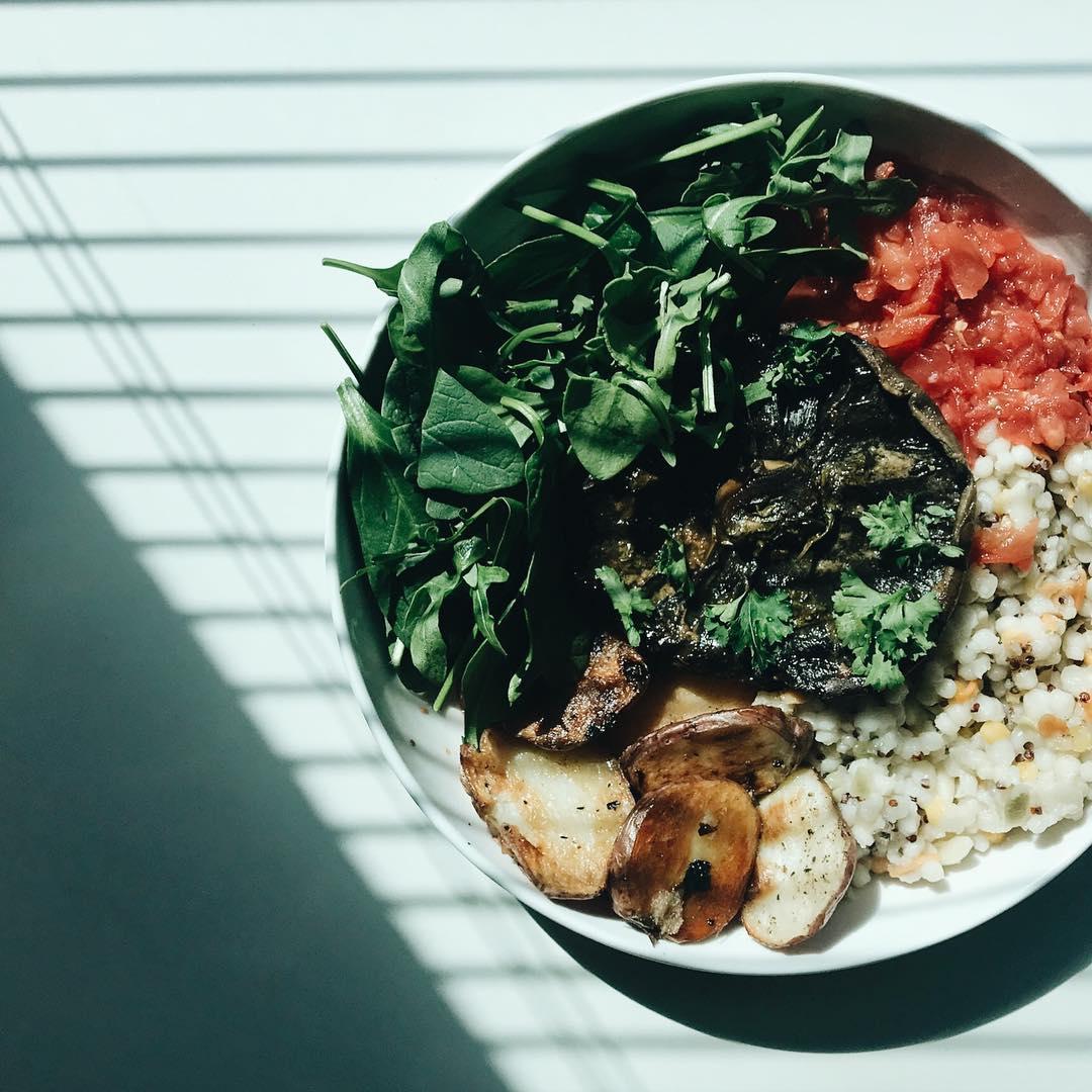 Dinner Option 2: Marinated Portobello Mushrooms
