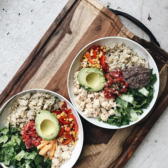 Lunch Option 2: Burrito Bowls