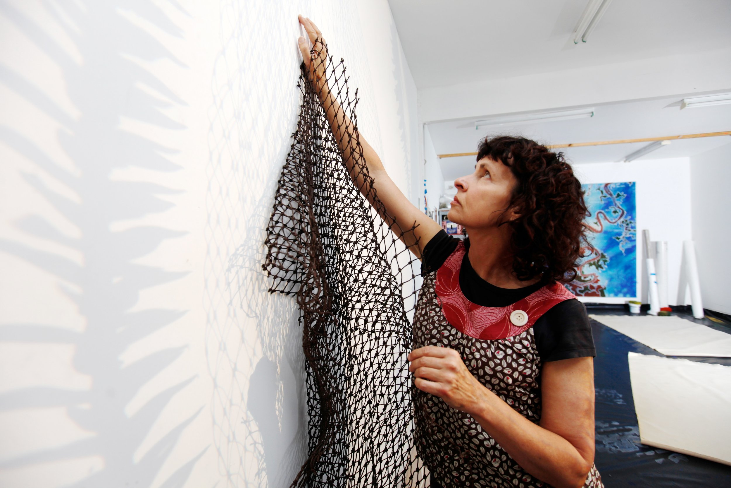 Judy Watson, 2011.  Photo: Sharon Hickey. Courtesy of the artist and Milani Gallery, Brisbane.