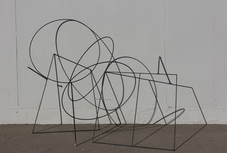 Sculptures on display at Massey University, Wellington Aotearoa NZ