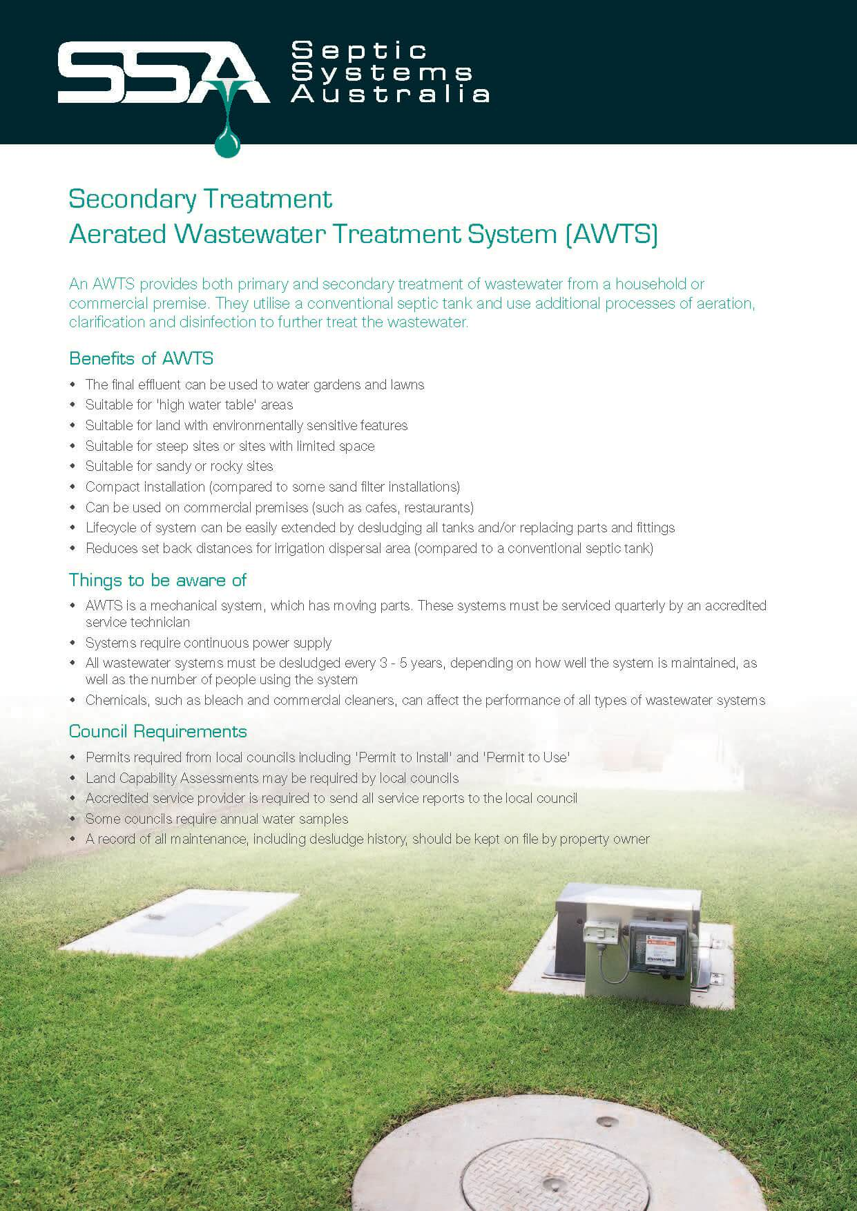 Secondary Treatment: Aerated Wastewater Treatment System (AWTS)