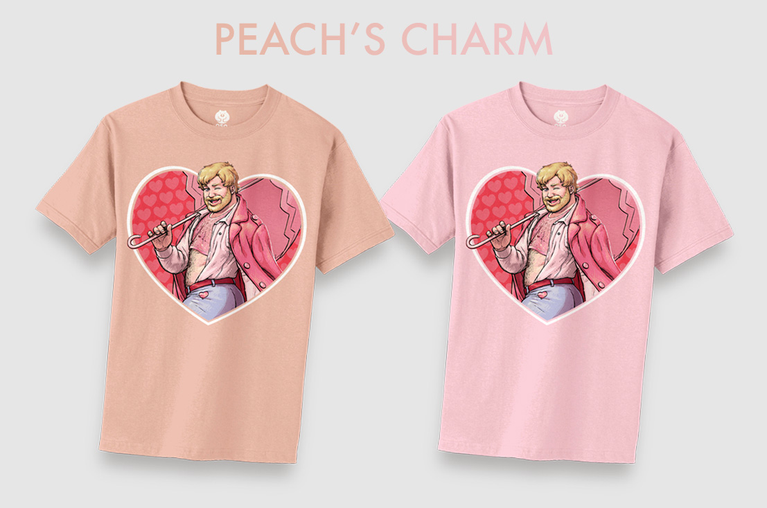 Sweet and juicy, Peach's Charm will be available in heathered peach and baby pink.