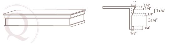 Modern Cornice Drawing