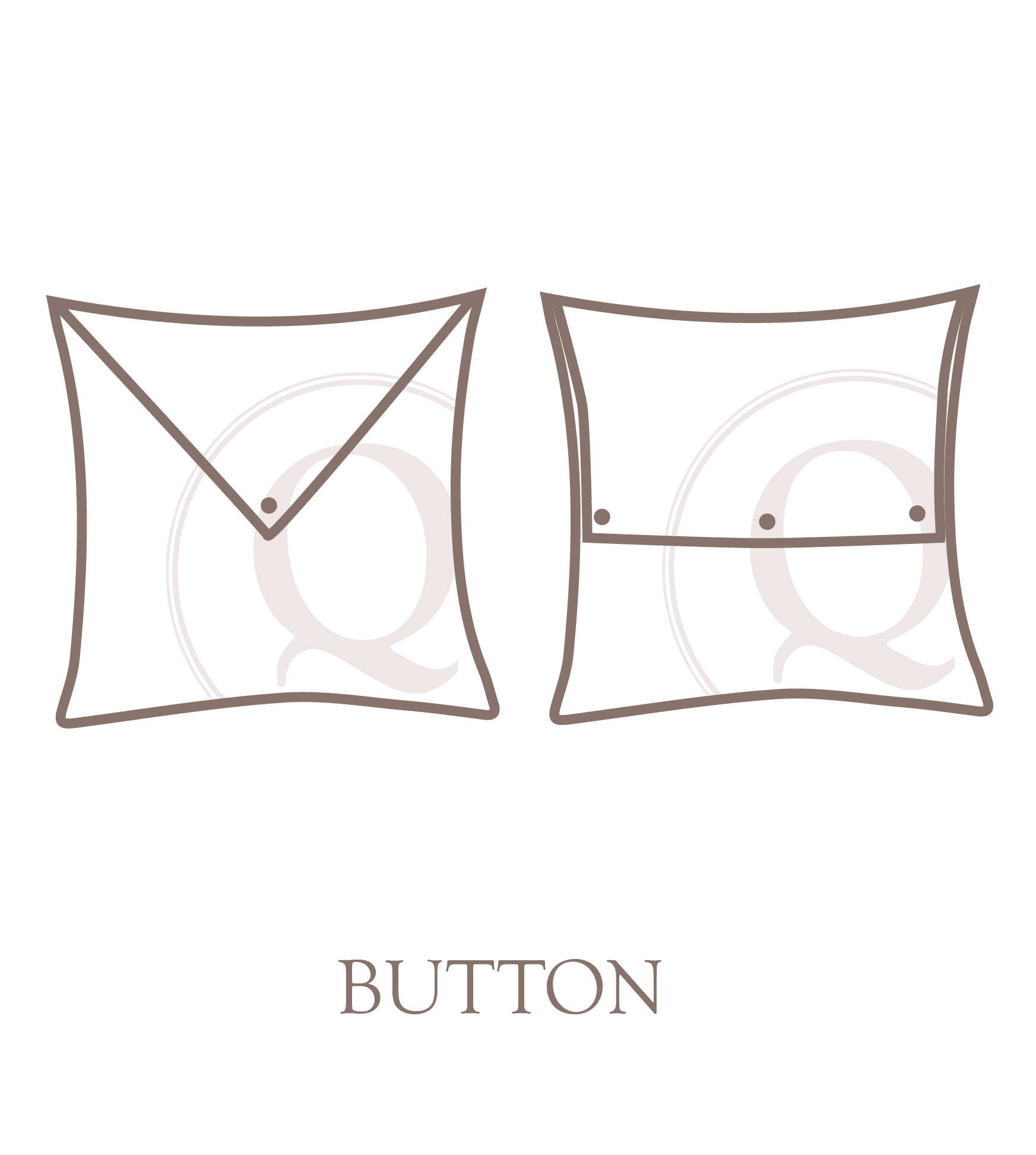 Button pillow closure