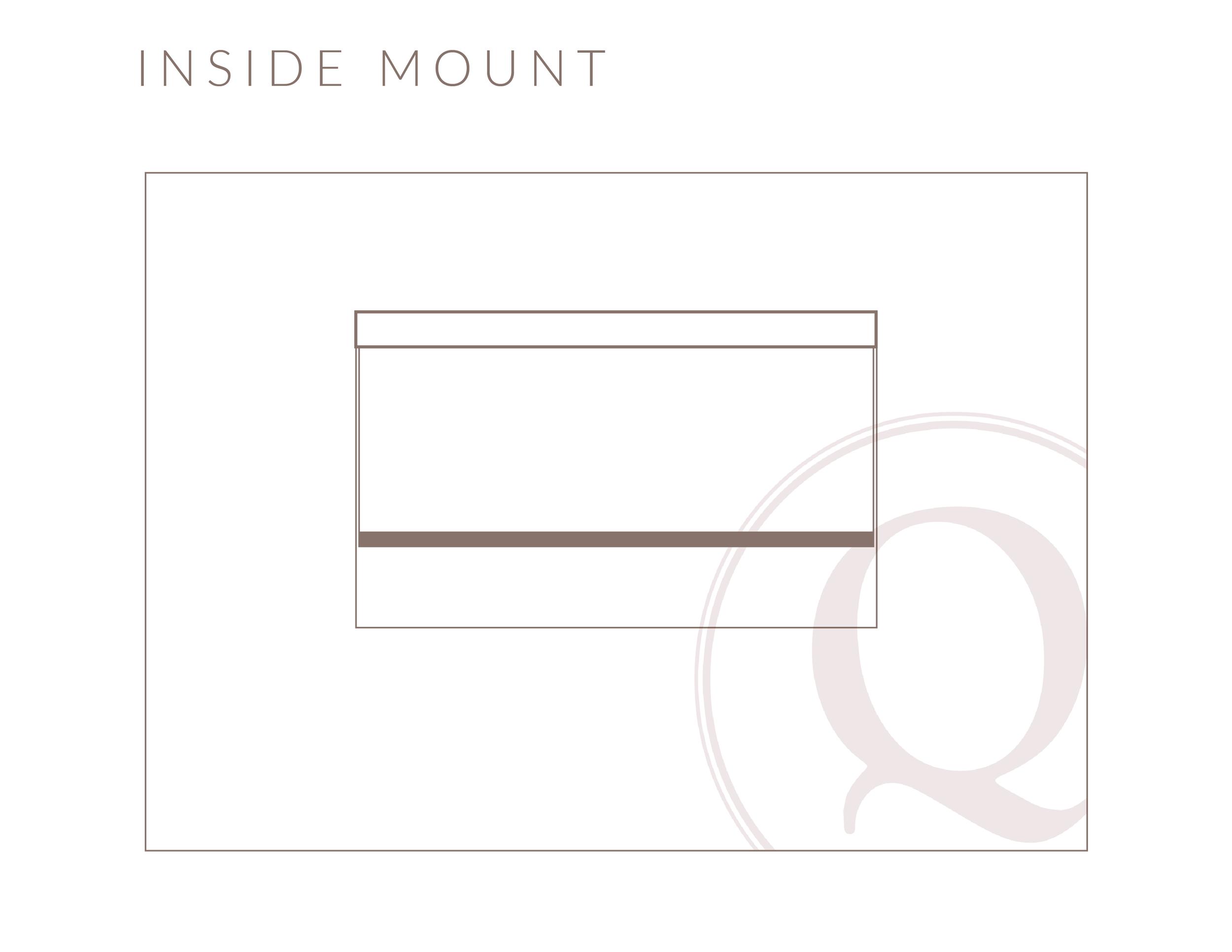 Inside Mount Roller Shade