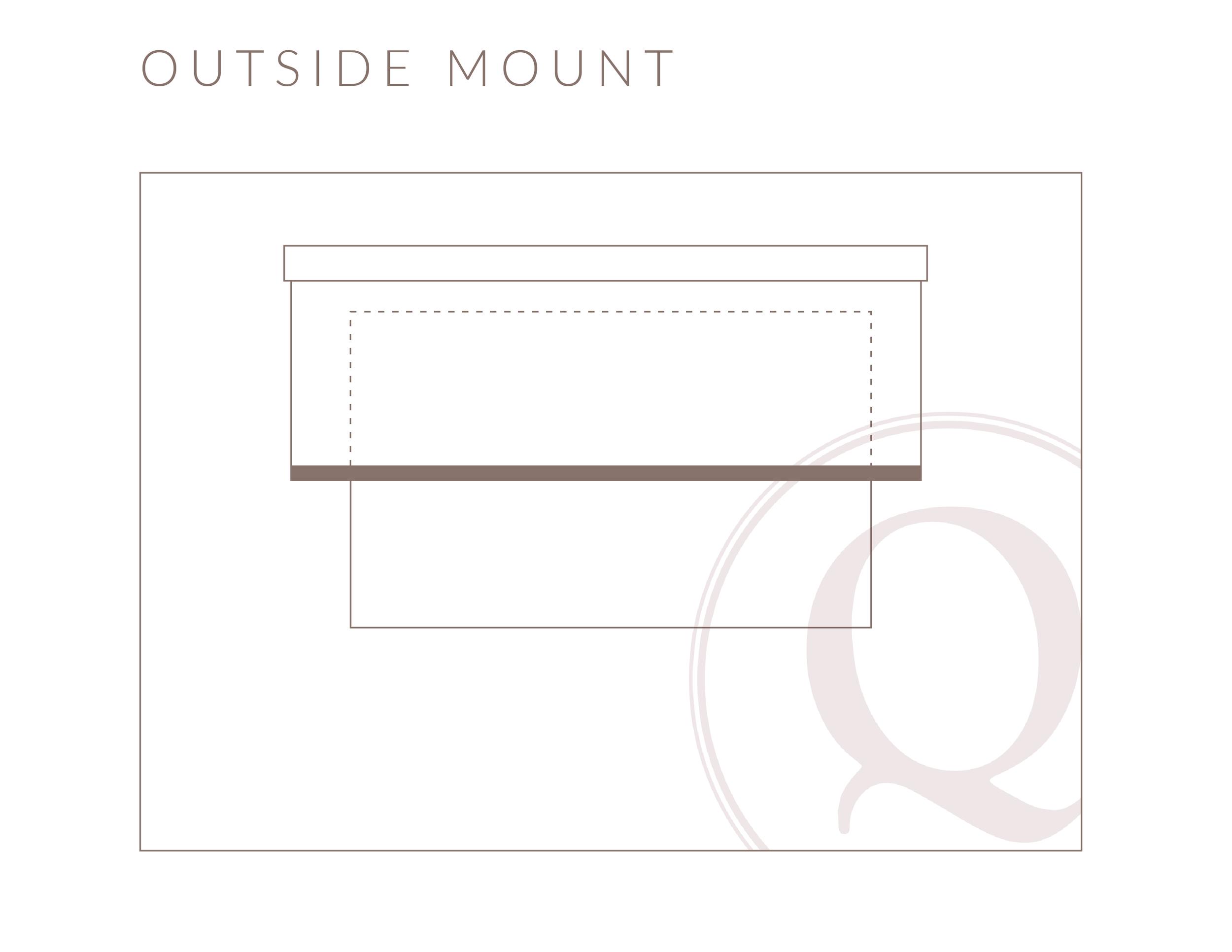 Outside Mount Roller Shade