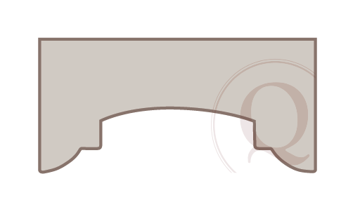 Curve Step Arched Cornice Drawing