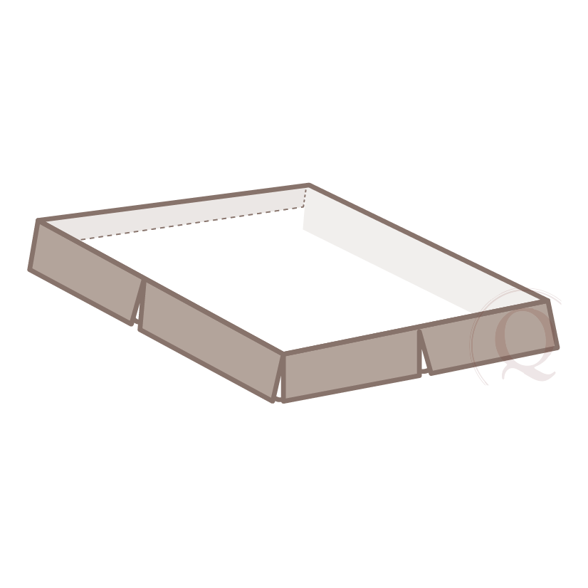 "head cap - Production detailed to minimize movement/shifting ensuring tight fit over box spring. This 6"" feature is cost efficient and highly effective."