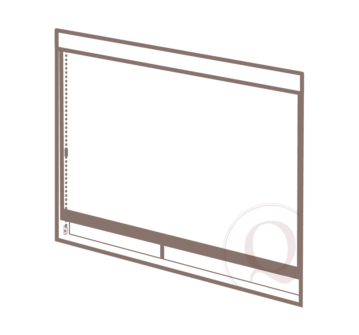 inside mount - When a roller shade is mounted inside the window opening.