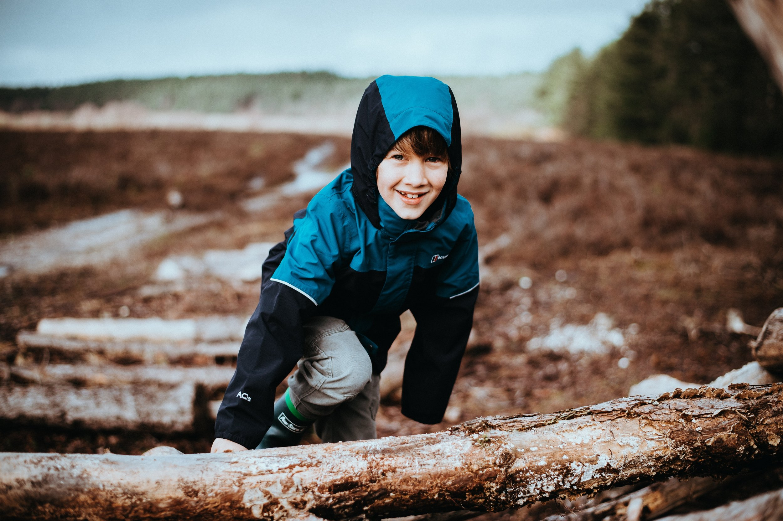 resilient child outdoors unstructured play