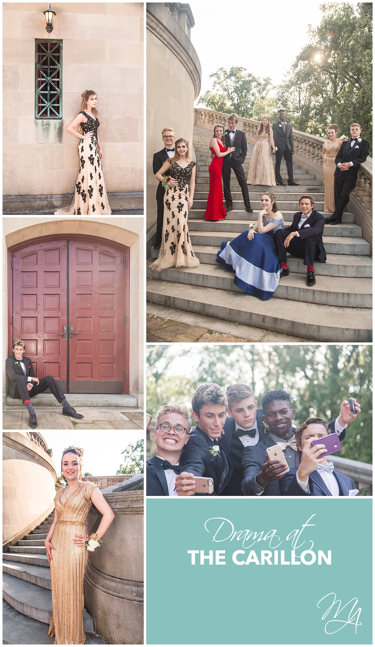 Dramatic Prom Pictures - Carillon Portraits - Marshall Arts Photography