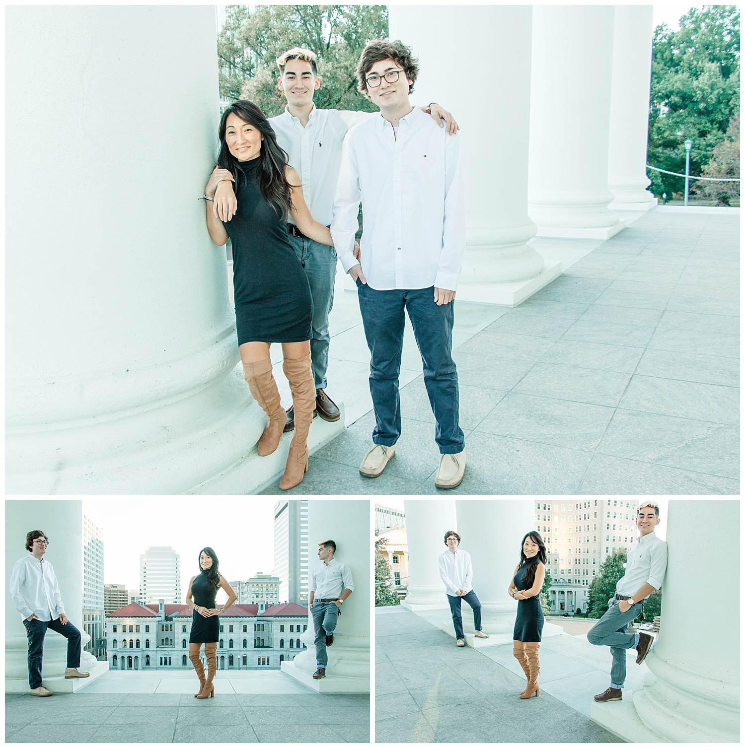 Virginia Fine Art Family Portraits at The Capitol in Richmond