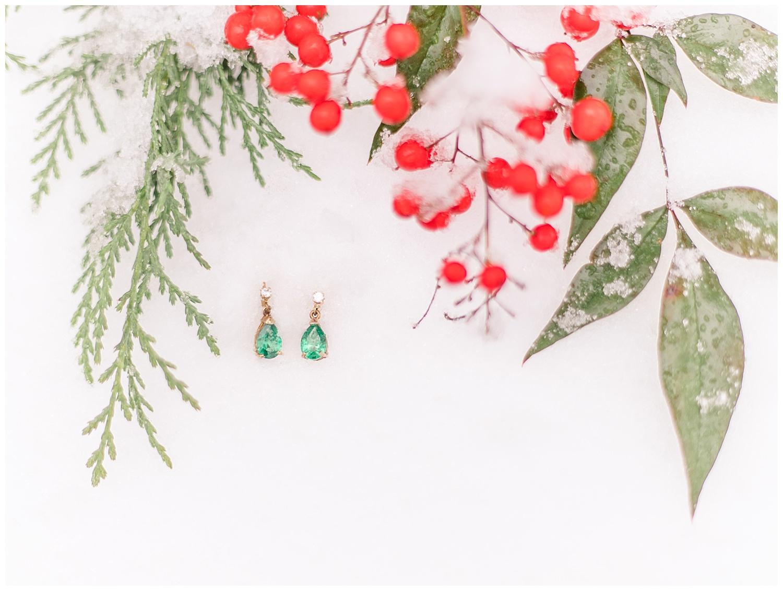Snowy Bridal Details - Wedding Photography