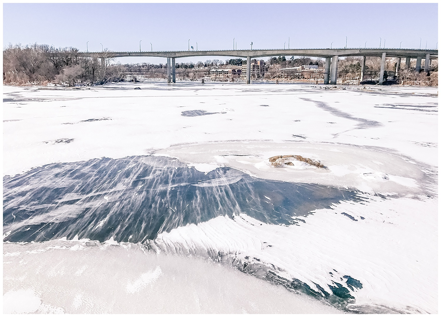 James River in Snow - Photographer Stacie Marshall