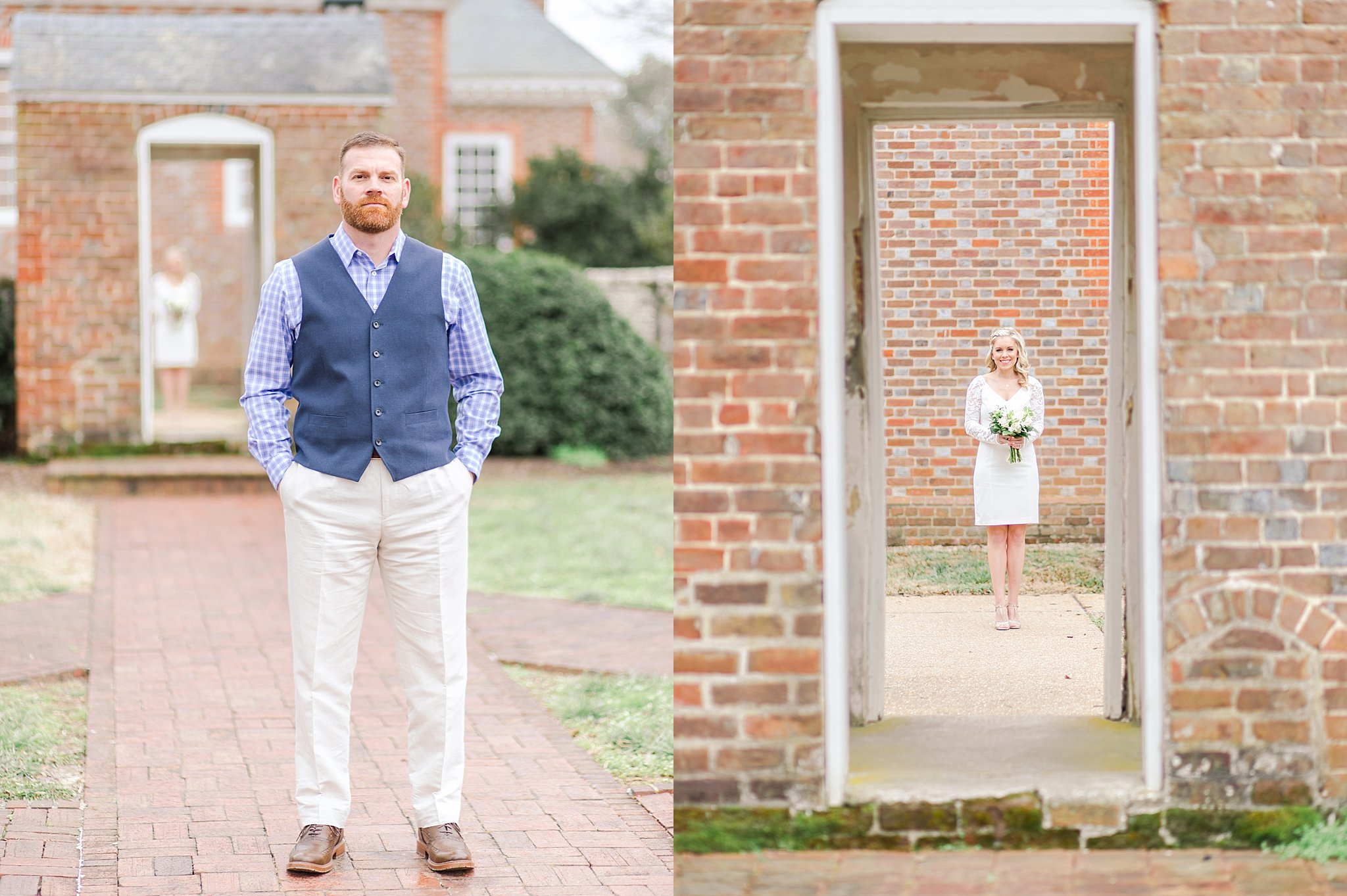 Wedding First Look - Hanover Courthouse - Marianne + Mike