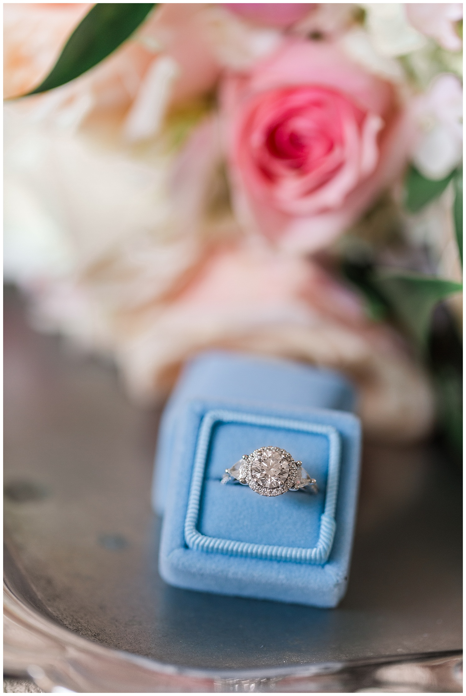 Virginia wedding at Upper Shirley Vineyards - velvet ring box