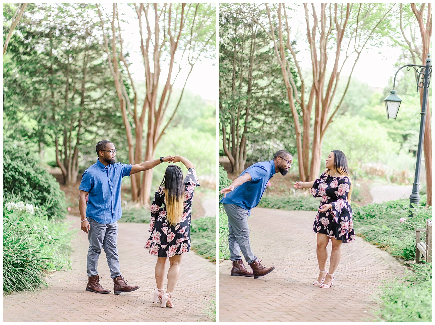 Lewis Ginter Botanical Gardens Engagement Session, Candice + CJ