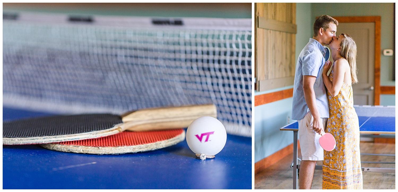 Virginia Engagement at Bold Rock Cidery - Ping Pong
