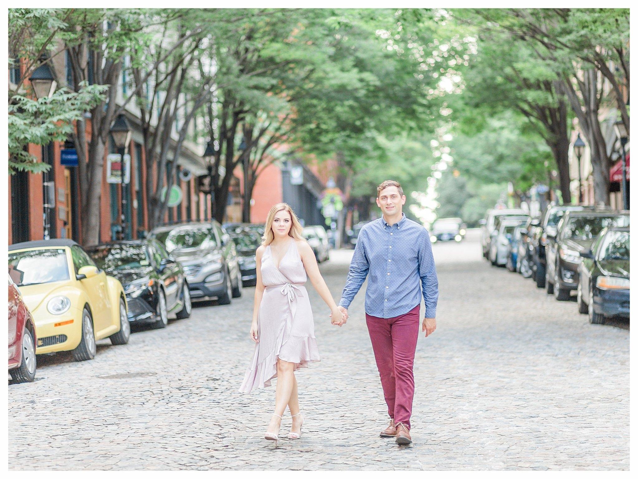 Richmond Engagement Photos - Shockoe Bottom - Katie + Reid