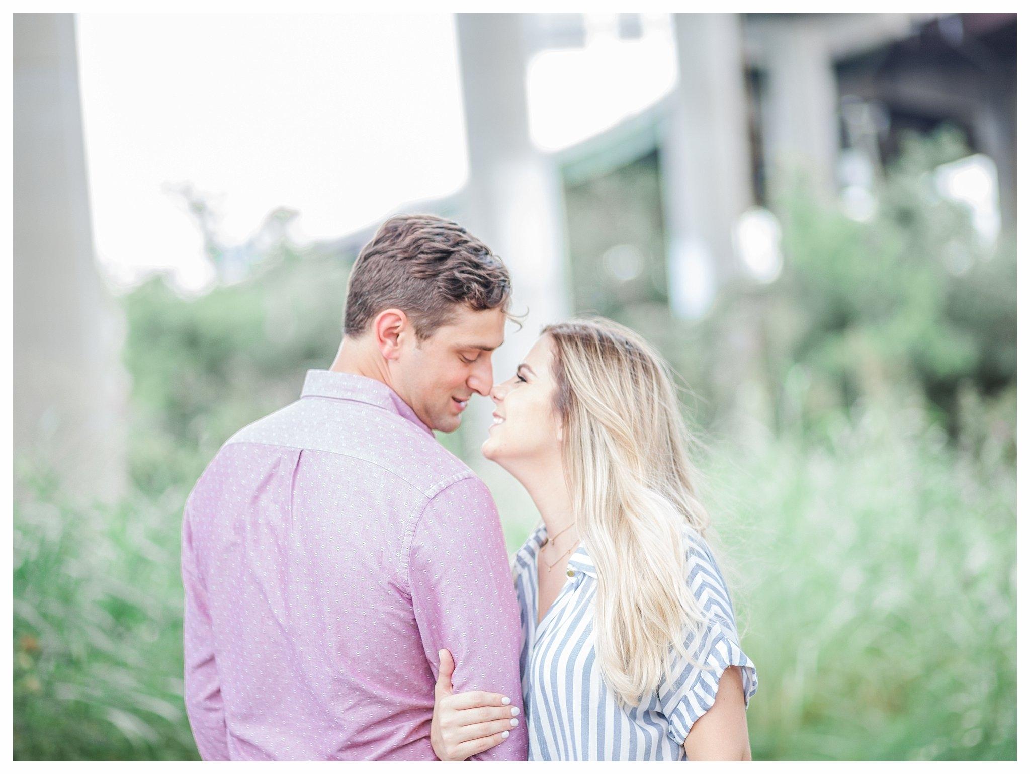 Richmond Engagement Photos - Shockoe Bottom Low Line Park - Katie + Reid