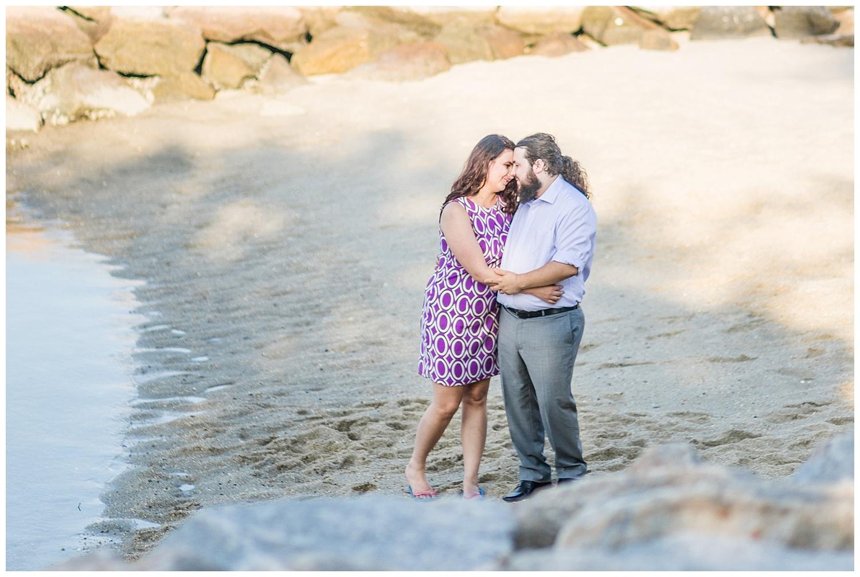 Yorktown Beach Engagement Photos - Sarah + Patrick