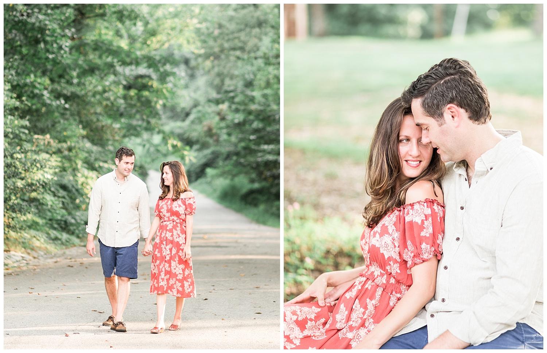 Bryan Park Richmond Engagement Photos - Marissa + Albie