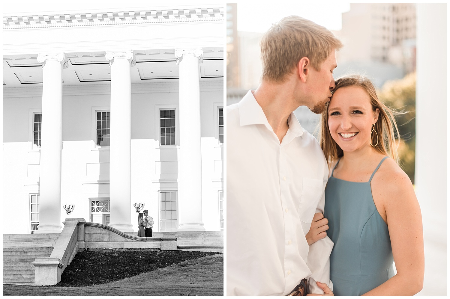 Richmond Virginia Engagement Session at the Capitol - Abigail + Greg
