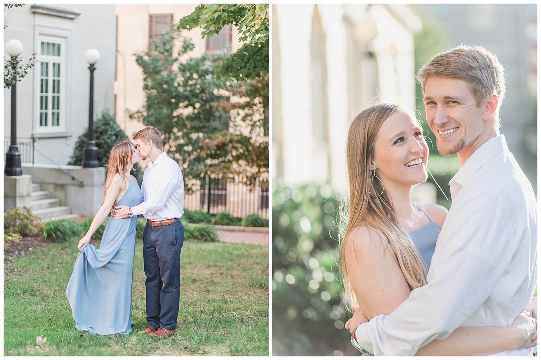 Virginia State Capitol Engagement - Abigail + Greg - Virginia Wedding Photographer