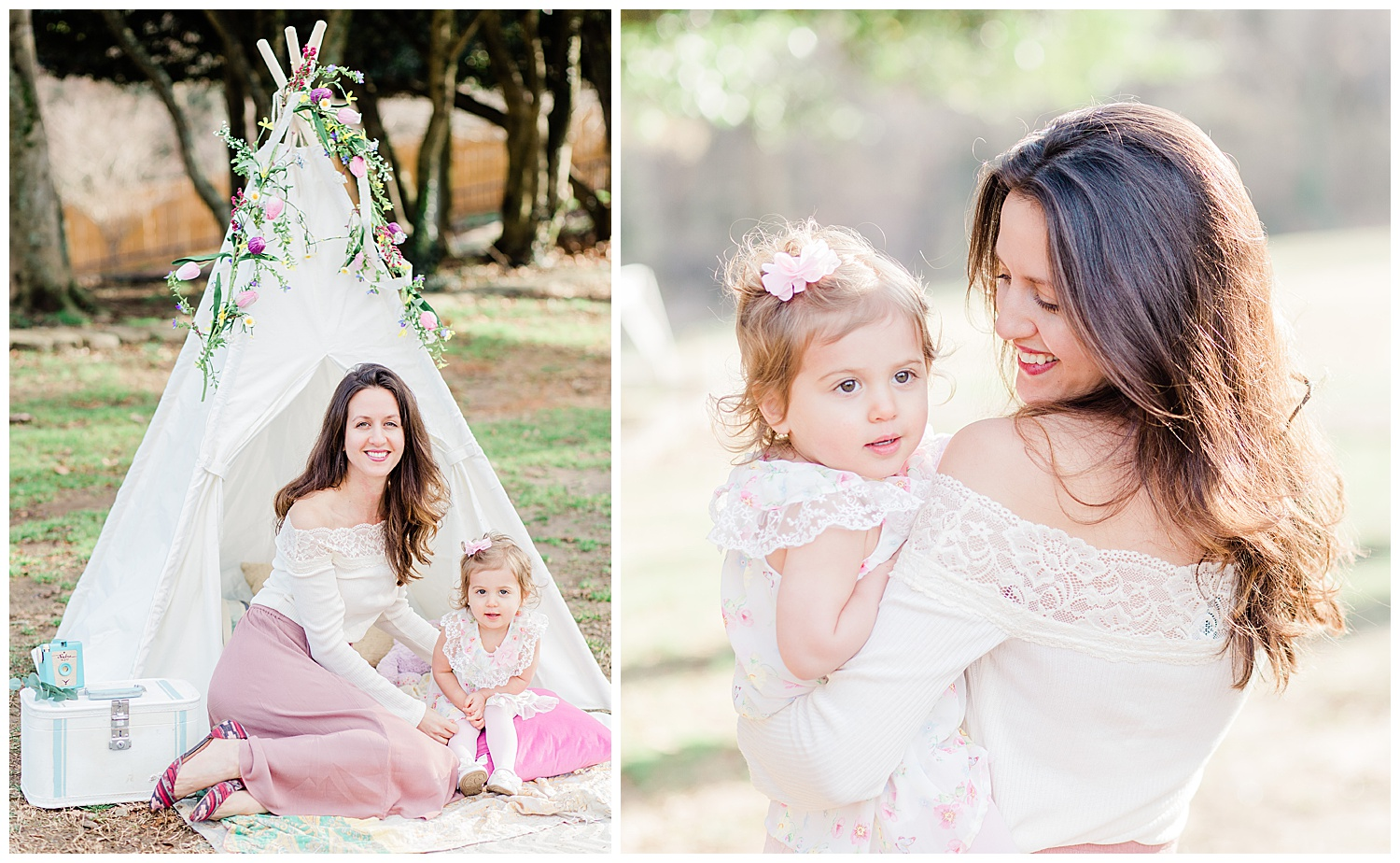 Mommy and Me Teepee Photos - Kids TeePee Portraits
