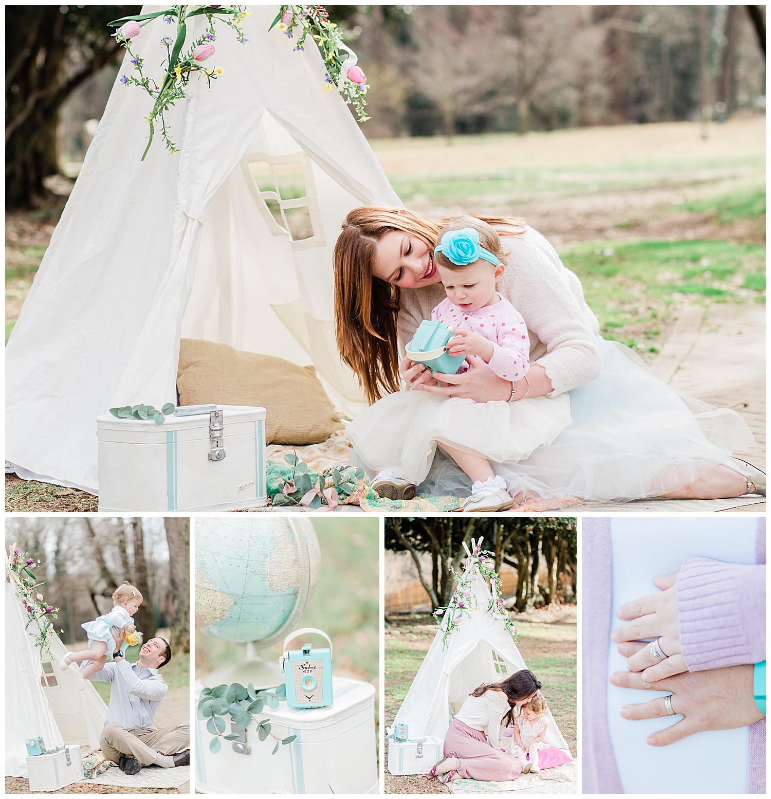 Richmond Virginia Family Photographer - Byrd Park Family Portraits - Bohemian Styled Shoot