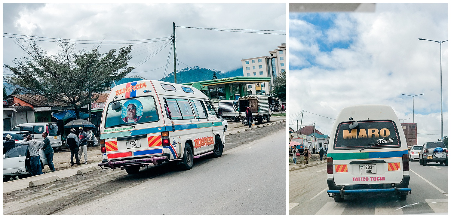 Dala Dala Minibuses often feature images of US rappers, celebrities or President Obama.