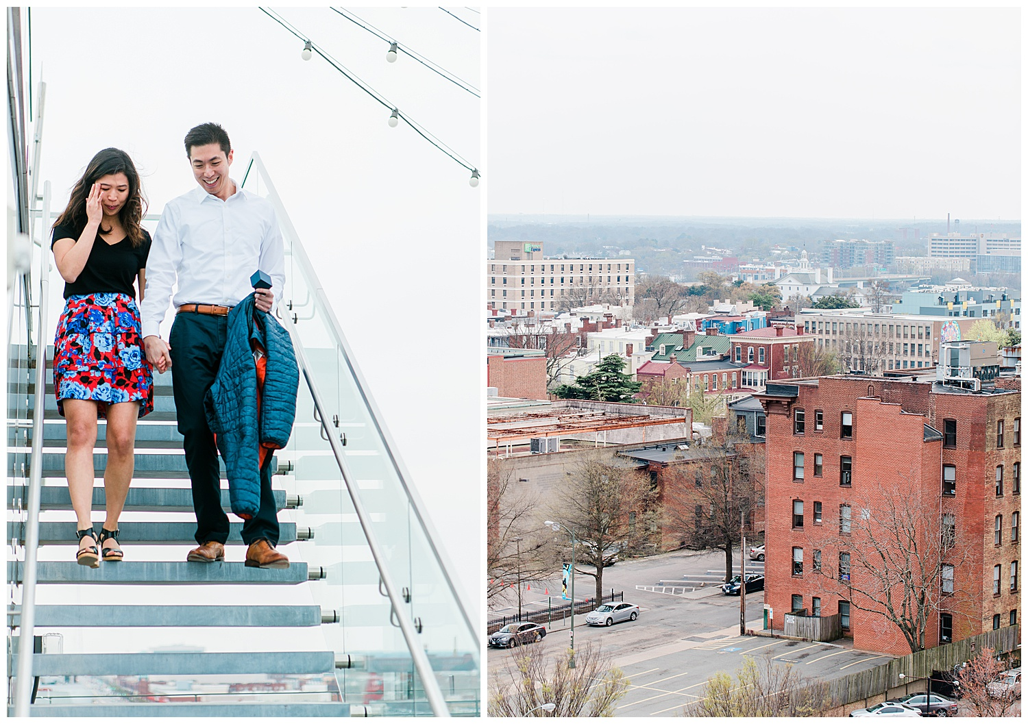 Quirk Hotel engagement session - Virginia Wedding Photographer