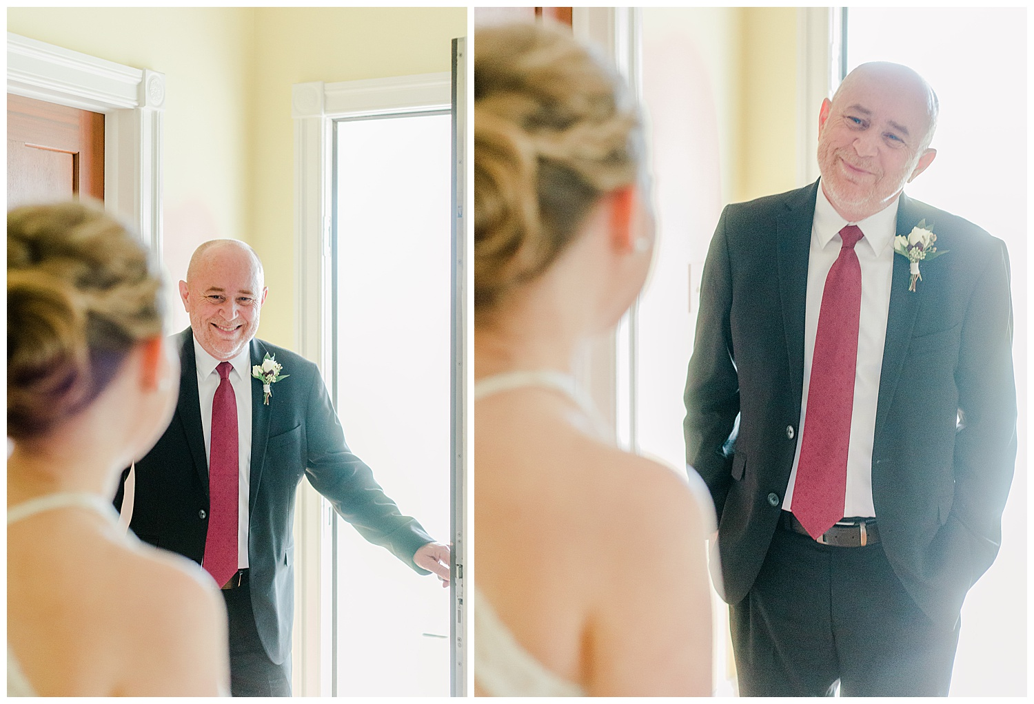Early Mountain Vineyards Wedding - Father Daughter First Look