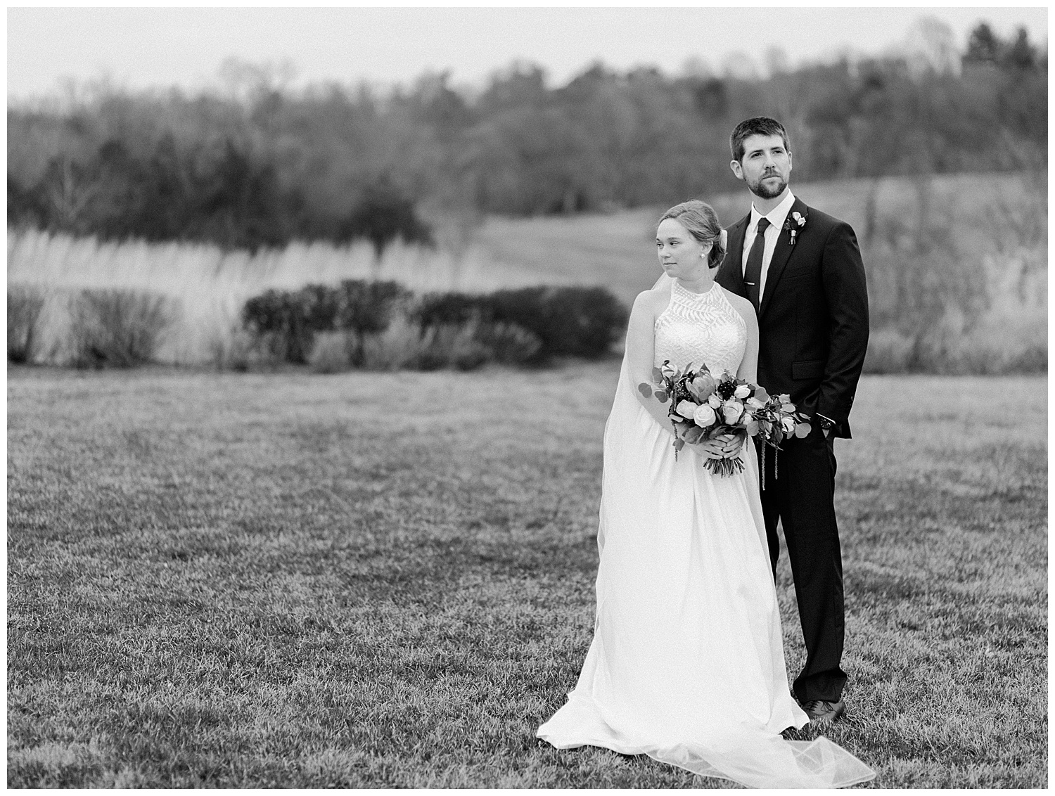 Early Mountain Vineyards Wedding in Spring - Christy + Tyler