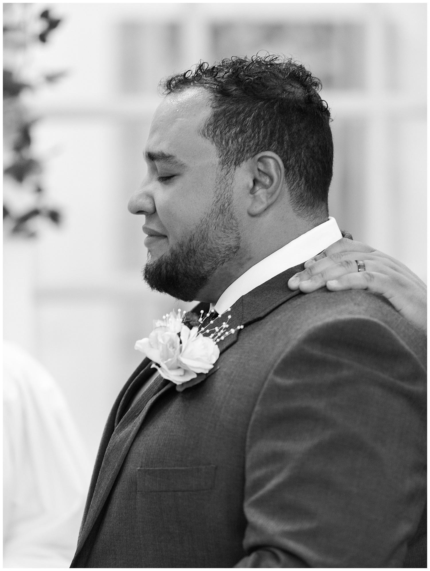 Emotional Groom - Virginia Wedding Photographer