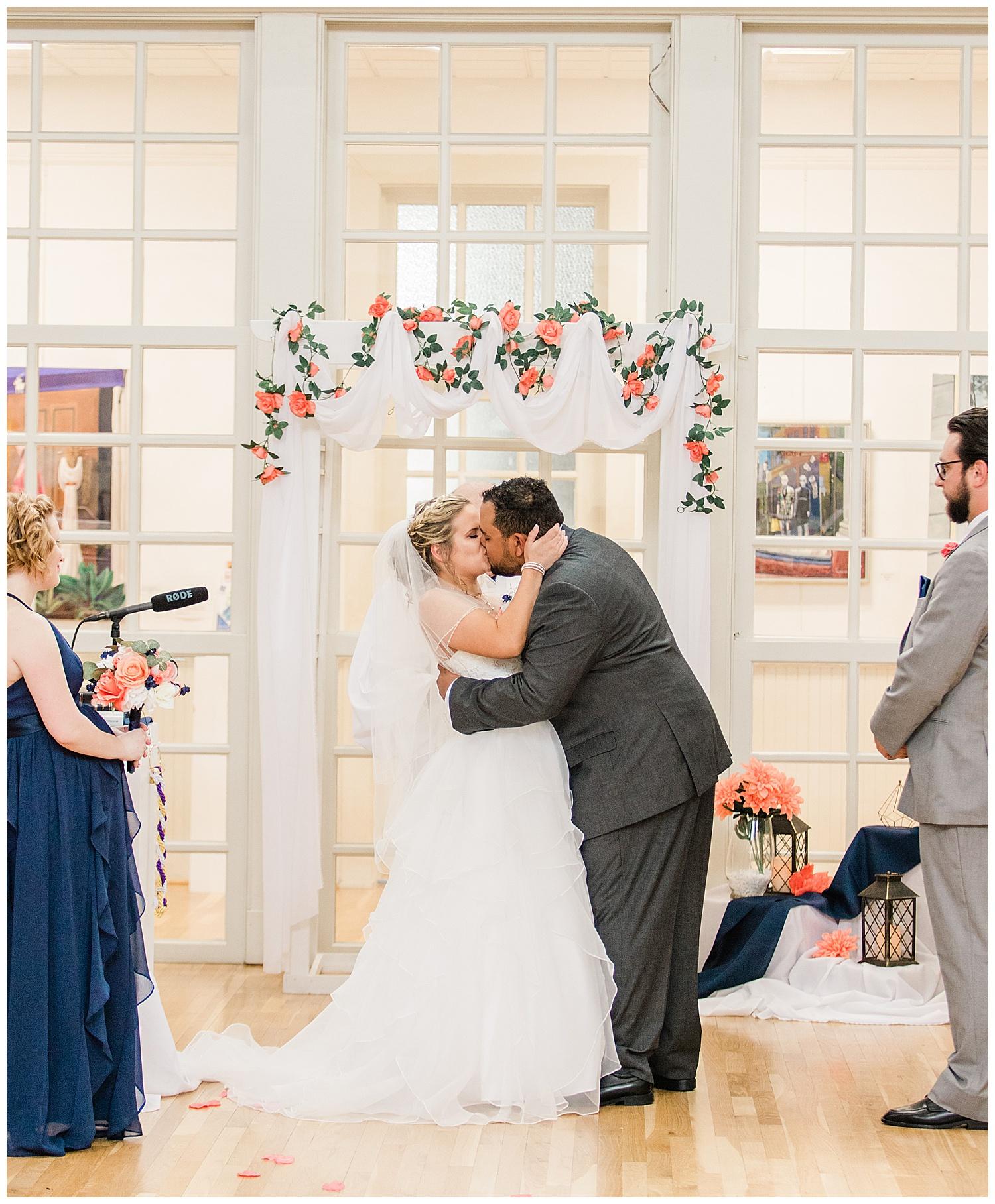 Wedding Kiss - Virginia Wedding Photographer