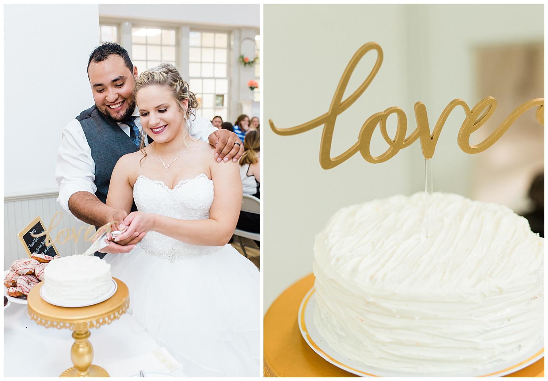 Wedding Reception Cake Cutting - Virginia Wedding Photographers