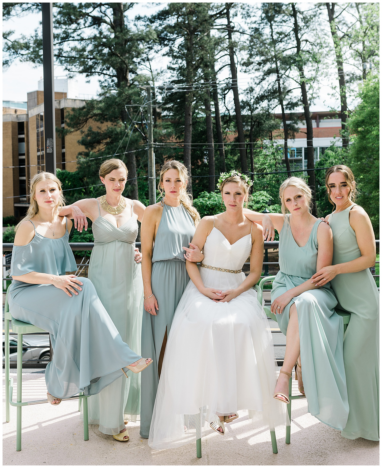 Bridal party at The Graduate Hotel Charlottesville