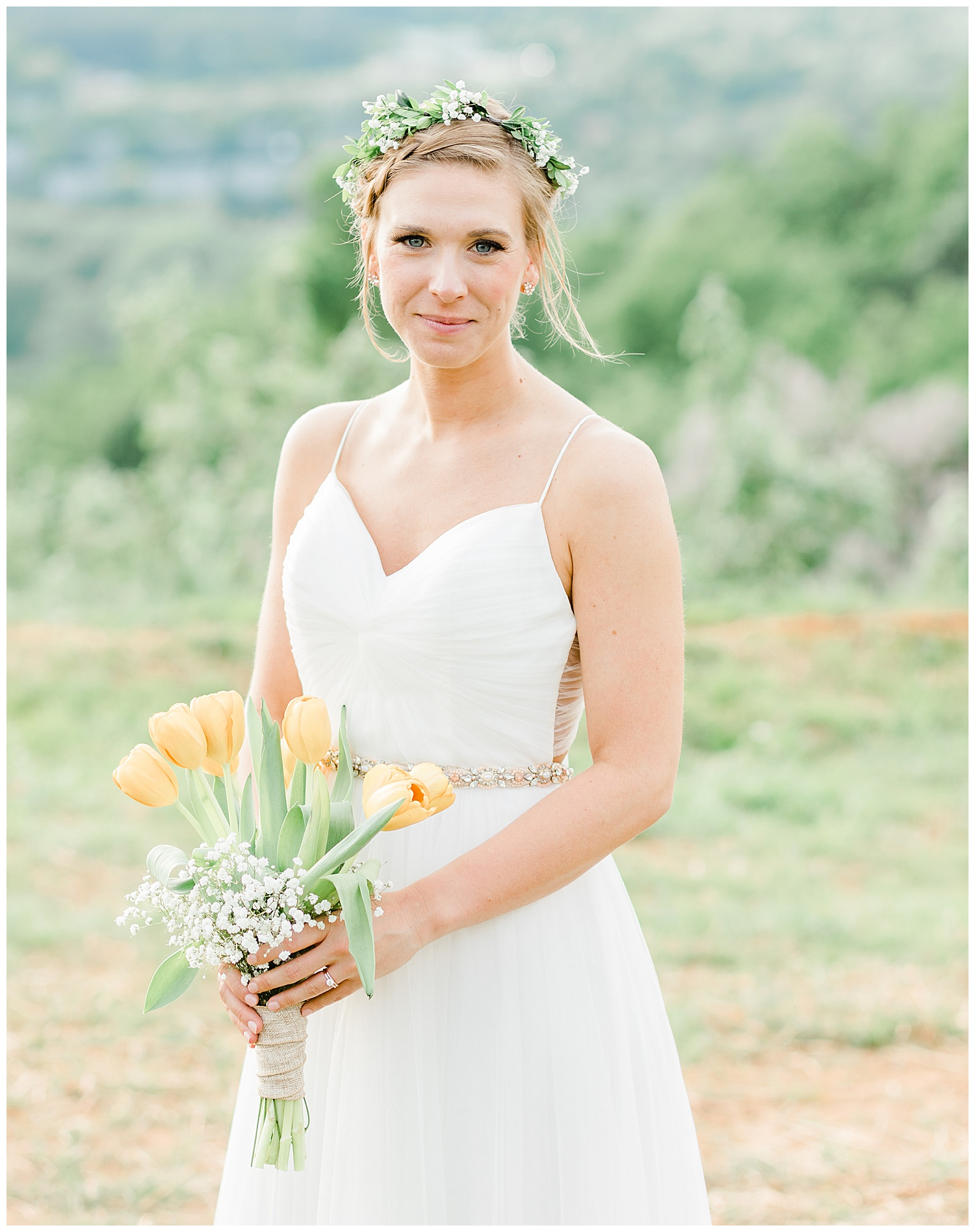Bridal Portrait at Carter Mountain, Charlottesville, Virginia