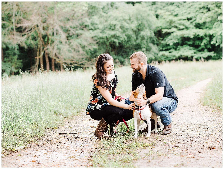 Tuckahoe Plantation Engagement Photos Session with Dog | Richmond Wedding Photographer