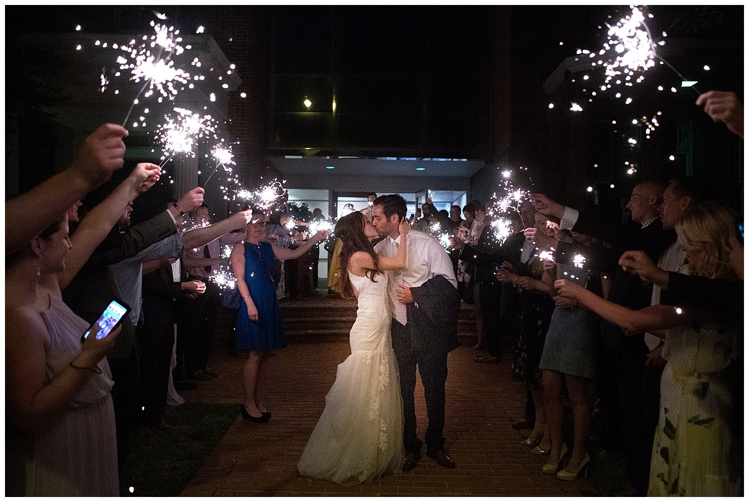 Sparkler Exit | Brownstone Wedding Reception | Richmond Wedding Photographer