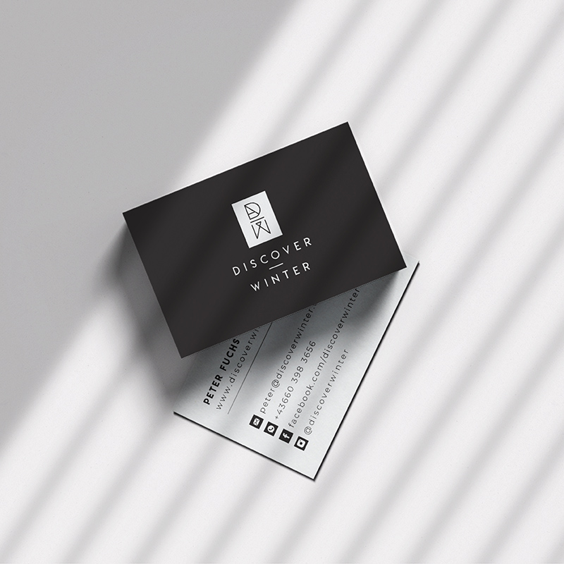Discover Winter Business Card Design