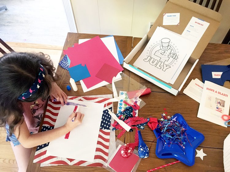 "Copy of ""My eight-year old said 'so cool!' nearly 10 times as she opened up her July 4th Kit."" —Amie, working mom"