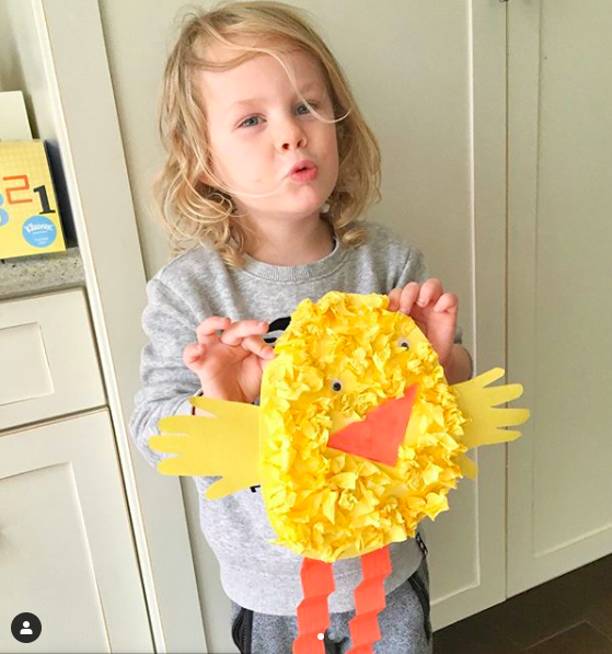 "Copy of ""This is the cutest Easter kit! Right away Luc wanted to paint, so all three of us made pom-pom dot Easter eggs. It was so fun and the kit made it really easy."" —Crystal, mom of 2"